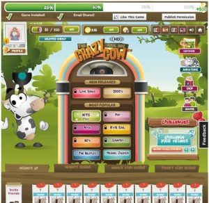 Before SongPop, an initial iteration was The Crazy Cow Music Quiz