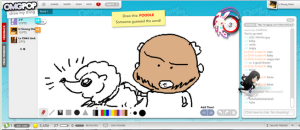 Before Draw Something on mobile, there was Draw My Thing on OMGPOP - a synchronous game where you had a timer to draw and other users tried to be the first to guess the word you were drawing