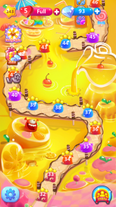 Maps like this one in Jolly Jam are now in 20% of the top games, reminding users the amount of time they've invested in the game